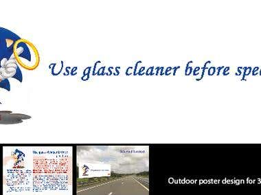 Outdoor poster cfor 3M Automobile Glass cleaner