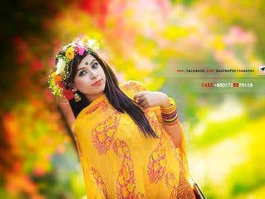 take some photo for falgun fashion