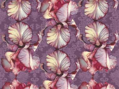 Iris Lace Fabric Design