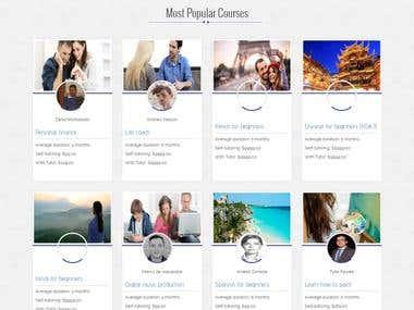 E-Learning website - 2