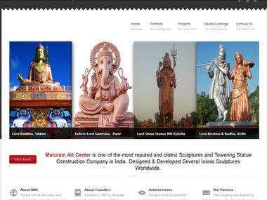 Website of Famous Matu Ram Arts Center