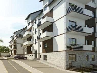 Architecture Visualization Apartment Buildings