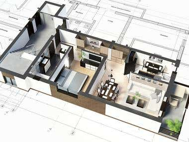 Architectural Visualization Floor Plans