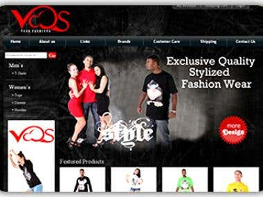 Clothing Ecommerce website