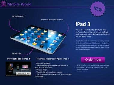 iPAD 3 - promotion site
