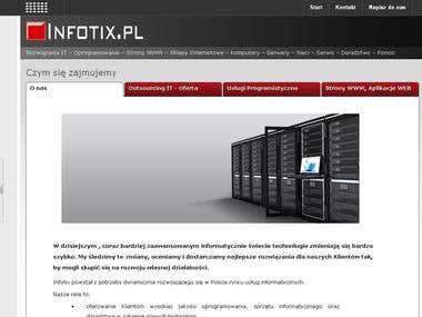 SITE for IT company INFOTIX