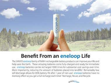Sanyo Eneloop ad for the US