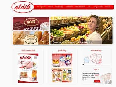 WWW SITE for grocery chain ALDIK