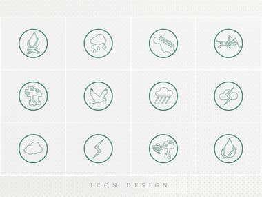 IOS/Line art style icon design