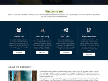 Visa Immigration Web App
