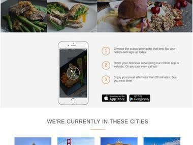 Omnifood - An online responsive web page