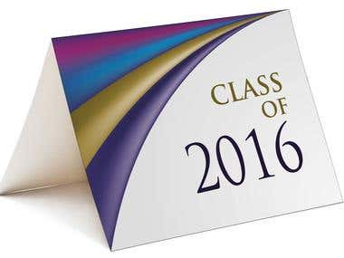 Class Of 2016 Card Design
