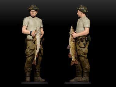 President Putin model for 3d printing. 3dsMax+ZBrush+Photosh
