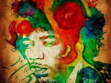 Jim Morrison print design