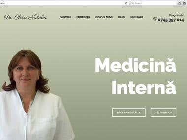 Presentation Website Dr. Chicu Natalia