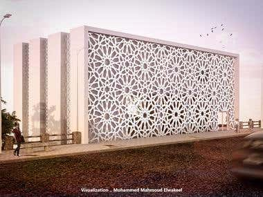 Mansoura Library Exterior scenes