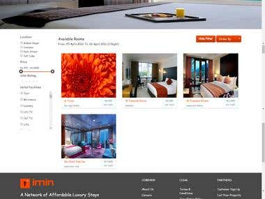 Hotel Room Booking Website