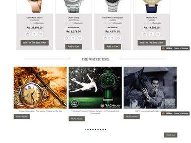 E commerce Luxury Watches Portal