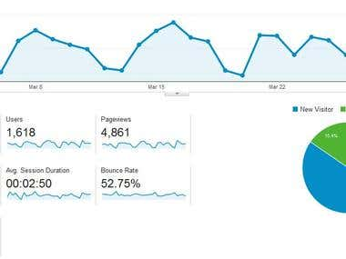 Monthly traffic in 3 month for new website