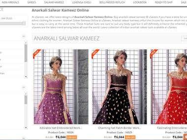 Ecommerce  Online Ethnic fashion website