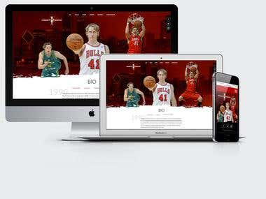 Website for Cameron Bairstow, Chicago Bulls