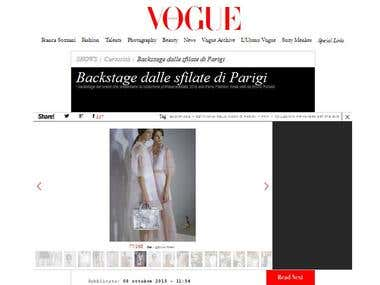 photo editor fashion web site and magazine
