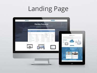 Landing page responsive design