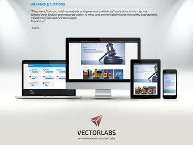 Website Developed - Inflatable Auctions