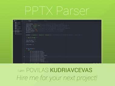 *.PPTX(PowerPoint) Parser