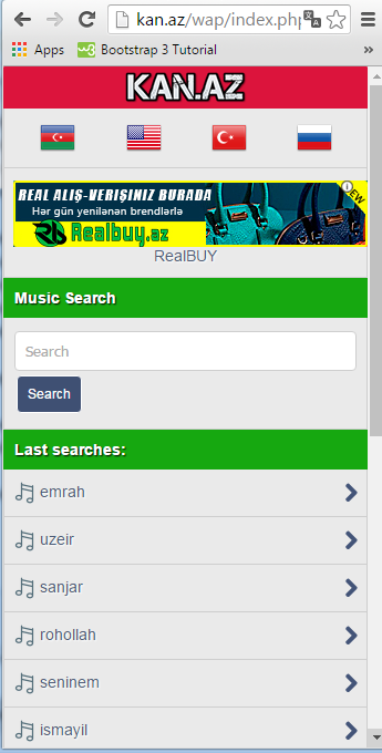 mobile music search site