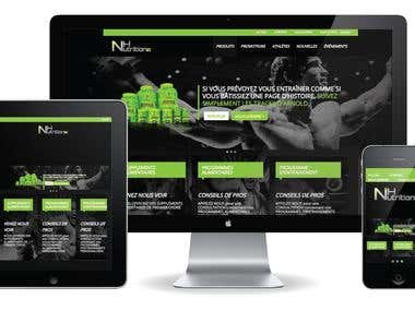 NH Nutrition was designed for a supplement store.