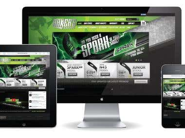 Web site design + programming on Magento
