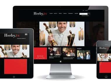 Herby.tv was built using Wordpress