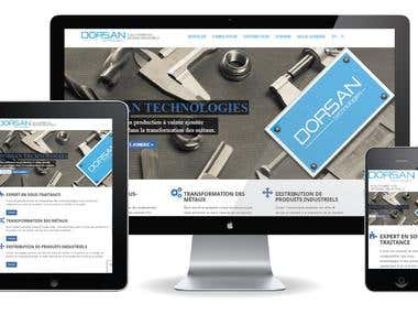 Website for metal transformation company Dorsan