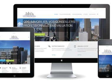 Website for a real estate brokerage agency