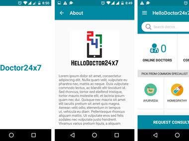 HelloDoctor24X7:- Online Doctors Android Application