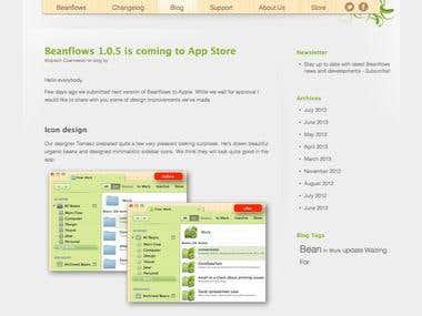 Beanflows website