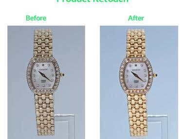 Gold Watch Retouch