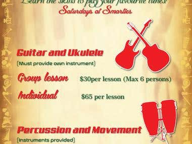 Flyer Design For Music Lessons