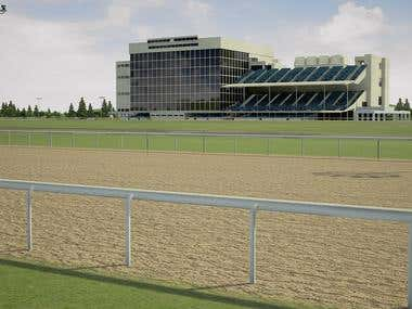 3D Horse Racing Simulation Viewer
