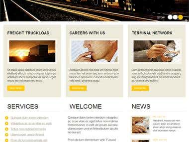 web templates for transport company