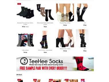 Teehee Socks E-Commerce Website
