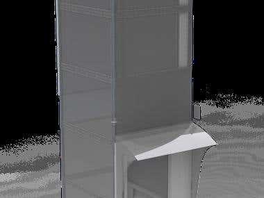 Renders de instalación de Ascensor CIBES A5000