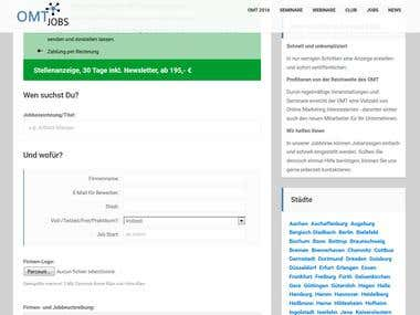 Wordpress plugin for managing jobs