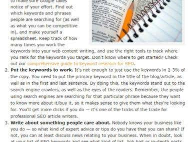 Secret to SEO Writing
