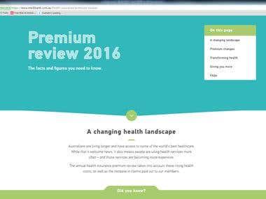 Medibank Premium Review landing page