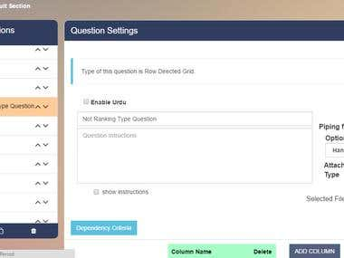 An online questionnaire management system