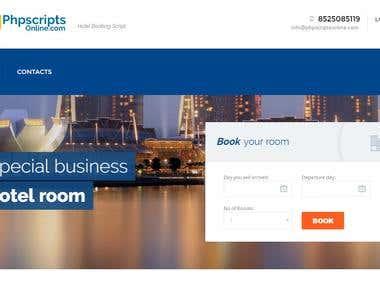 Online Hotel Room Booking Script