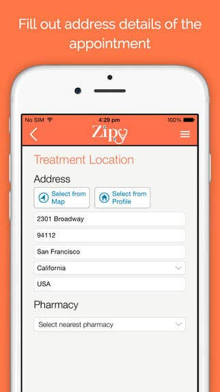 Zipy Patient Medical Application (iPad & iPhone)
