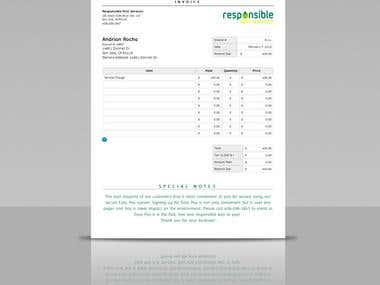 Dynamic Web Invoice
